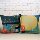 Cartoon Fairy Tale Girl & Boy Home Decor Pillow Case Cushion Cover Square 18""