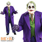 Deluxe The Joker Costume Batman Villian Men's Halloween Fancy Dress Costume New