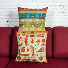 "Happy Christmas Cartoon Office Decor Pillow Case Cushion Cover Square 18"" Linen"