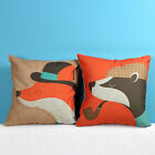 "Lovely Animal Fox Cartoon Sofa Decor Pillow Case Cushion Cover Square 18"" Linen"