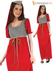 Adult Ladies Medieval Princess Costume Tudor Lady in Waiting Fancy Dress Outfit