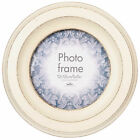 SHABBY CHIC CASA PHOTO FRAME - CIRCULAR WOOD PICTURE HOME DECOR - VINTAGE DESIGN