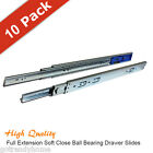 "[Pack of 10 Pairs] 16 - 22"" Full Extension Soft Close Ball Bearing Drawer Slides"