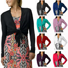 Stylish Cover Up Wrap Top Long Sleeve Bolero Cardigan Shrug Casual Dress ac1122