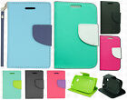 For TracFone LG 306G Premium Leather 2 Tone Wallet Case Pouch Flip Cover