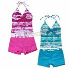 Girls Children Tankini Floral Pants Swimsuit Swimwear Clothes Bathing Suit 7-16