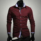 Fashion Luxury Mens Cotton Formal Casual Suit Long Sleeve Slim Fit Dress Shirts
