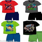 BOYS 100% COTTON SHORT BOTTOM SUMMER PJS SPIDERMAN JAKE & THE PIRATES AVENGERS