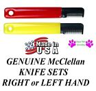 McClellan STRIPPING KNIFE SET RIGHTor LEFT Hand Hair Coat Stripper Carding Knive