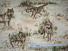 Wolf jungle native animal cotton quilting fabric *Choose design & size