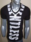 A.F.E.X D.G CODE ALPHA V-NECK STAR GRAPHIC MUSCLE FITTED SLIM FIT SHIRT TEE TOP