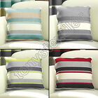 STRIPED STRIPEY CUSHION COVER CASE 100% COTTON BLACK RED CREAM GREEN 43 x 43cm
