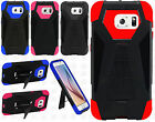 For Samsung Galaxy S6 Turbo Layer HYBRID KICKSTAND Rubber Case Cover Accessory