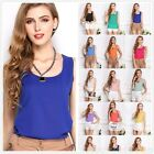 Fashion Women's Slim Summer Casual Chiffon Vest Tops Sleeveless Shirt Blouse