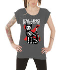 Falling in Reverse Cat and Mouse Official Womens New Grey Roll sleeve T Shirt
