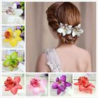 Bridal Wedding Party Orchid Flower Hair Clip Barrette Women Girls Accessories