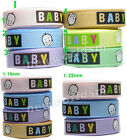 "9mm 16mm Baby Boy Grosgrain Ribbon 3/8"" 5/8"" All Occasions Eco CLEARANCE"