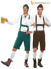 Mens Oktoberfest Bavarian Beer German Lederhosen Fancy Dress Costumes Outfit