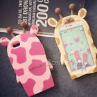 "For iPhone 6 4.7"" Giraffe Case Silicone Soft Cartoon Back Cover Protector"
