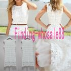Hot Women Lace Sleeveless Ball Gown Formal Evening Party Cocktail Mini Dress T