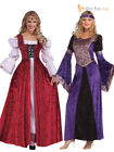 Ladies Deluxe Medieval Costume Tudor Queen Renaissance Womens Fancy Dress Outfit