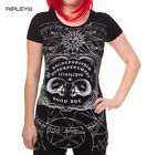 BANNED Goth T Shirt Top IMMORTALITY Ouija Board Skulls All Sizes