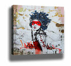 SPLASH GIRL MODERN GRAFFITI STREET ART HIGH QUALITY CANVAS PRINT - CHOOSE SIZES