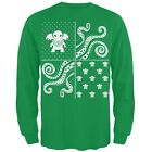 Cthulhu Lovecraft Ugly Christmas Sweater Green Long Sleeve T-Shirt