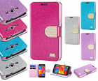 T-Mobile Samsung Galaxy Avant G386T Glitter Leather Wallet Case +Screen Guard
