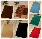 Modern Soft Small Large Plain Non Slip Rubber Back Washable Bathmats Rugs UK