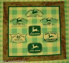 *Choose design* John Deere tractors craft panel cotton quilting fabric