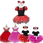 Girls Kids Mermaid Minnie Mouse Fancy Dress Up Costume Cosplay Ballet Tutu Skirt
