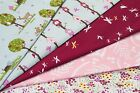 100% COTTON PRINT FABRIC - WOODLANDS THEME - A WOODPECKERS HOME