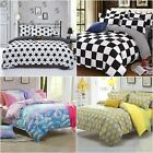 Colourful Single/Queen Bed Quilt/Doona/Duvet Cover Set New Polyester Bed Linen