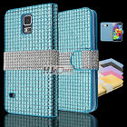 For LG Tribute SERIES Luxury Diamond Leather PU WALLET POUCH Case Cover Colors