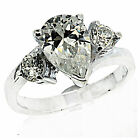 4.8 g Stamped 925 Sterling Silver White Cubic Zirconia Ring  6 US SIZE BELDIAMO