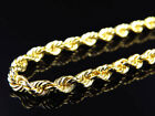 Mens/ Ladies Bonded 1/10th 10K Yellow Gold 4 MM Solid Rope Chain Necklace 18-30