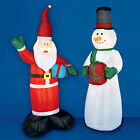 INFLATABLE CHRISTMAS CHARACTERS - SANTA AND SNOWMAN XMAS GARDEN DECORATIONS -