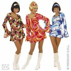Ladies Womens 70s Chick Costume Outfit for Disco Fancy Dress