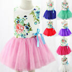 Kids Baby Toddler Girl Clothes Princess Lace Floral Christening Party Tutu Dress