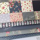 MORE NEW  fat quarter FABRIC  bundles 100% cotton FLORALS SPOTS STRIPES