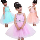 Girls Party/Flower/Formal/Wedding/Princess/Bridesmaid/Christening Dress Age 3-7Y