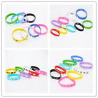 10/50x New Sport Soft Wrist Strap Mixed Colour Silicone Printed Bracelet Unisex
