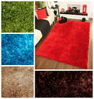 Modern Plain Extra Small Large NON SHEDDING Soft High Gloss Quality Ribbons Rugs