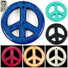 55x55mm Magnesite Turquoise Peace Pendant Bead for wholesale, pick your colors.