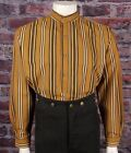 FRONTIER CLASSICS Tobacco Stripe HOMBRE Shirt SASS Steampunk Dickens