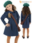 Girls WWII World War 2 Two VE Evacuee Costume Fancy Dress 1940s Kids Book Week