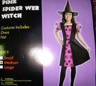 Witch Spiderweb Pink Girl Dress Costume S M L NIP