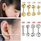 Stainless Steel Piercing Barbell Ear Cartilage Helix Tragus Stud Earring Bar 16G