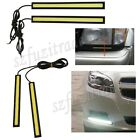 2x 17cm Car Bright Waterproof LED COB Daytime Running Light DRL Fog Driving Lamp